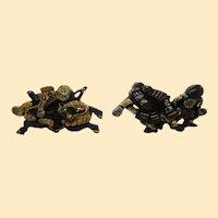 Victorian Sterling Silver Samurai Cufflinks