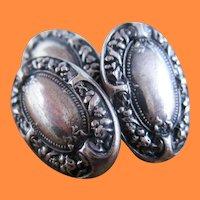1869 Gorham Sterling Silver Cufflinks