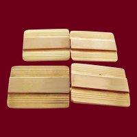 1925 Art Deco 14 Karat Yellow Gold Cartier Cufflinks