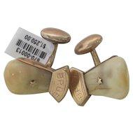 B.P.O.E. Elk Tooth Cufflinks 14K Rose Gold