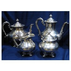 "Reed & Barton ""Regent"" 4-pc Silver Tea Set"