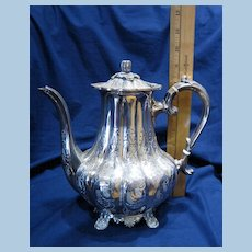 Sheffield England Hand Chased 4-pc Silver Tea Set w/ autumn pumpkin theme
