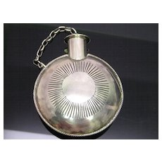 Rare American Indian Silver Tobacco Flask