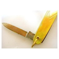 Gold Pocket Knife