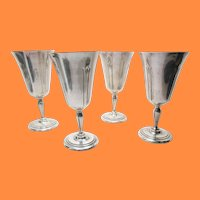 Set of 4 Sterling Silver Lady Diana by Towle Goblets