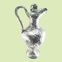 John Samuel Hunt Sterling Silver Grapevine Wine Ewer