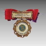Antique Ladies of Golden Eagle 1904 Grand Temple NJ Fraternal Medal