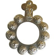 Vintage Finger Rosary Beads Ave Maria Single Decade