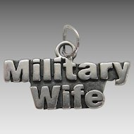 Vintage Silver Military Wife Charm SS Sterling Sundance Jewelry Co