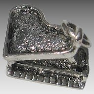 Vintage Silver Figural Grand Piano Charm SS Sterling 3 Dimensional