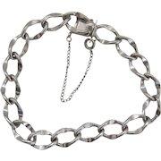 Vintage Beau Silver Starter Charm Bracelet SS Sterling 7 inches