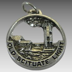 Vintage Silver Old Scituate Light Lighthouse Charm Sterling
