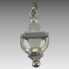 Vintage Silver Mechanical Door Knocker Charm Sterling