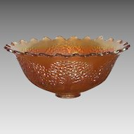 Fenton Orange Tree Carnival Glass Punch Bowl Marigold Early