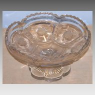 Tarentum Frost Crystal EAPG Compote HTF