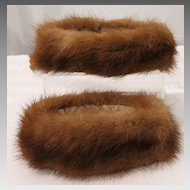 Vintage Mink Fur Sleeve Cuff Accents