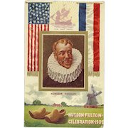 Hudson Fulton Celebration 1909 NY Postcard Antique Embossed