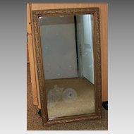 "Wonderful Vintage Wood Frame with Mirror - 17 ½"" by 9 ¾"""