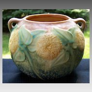 Roseville Sunflower Urn Flower Pot Vase  circa 1930 4 inch Holiday Sale