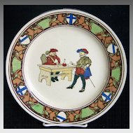 Royal Doulton New Cavaliers Series Plate  Men Playing Dice ca 1920