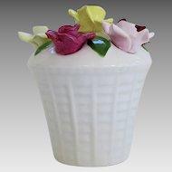 Vintage Hors D'oeuvres Staffordshire Food Pick Set Porcelain Roses