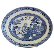 Vintage Wedgwood Willow Blue Oval Platter Small