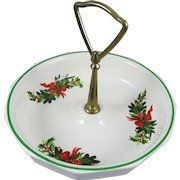 Pfaltzgraff Christmas Heritage Nut Candy Dish Vintage Discontinued