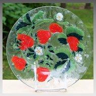 Sydenstricker Art Glass Strawberry Plate