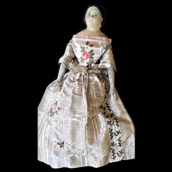 Antique Milliners Model Doll c1850s-60s