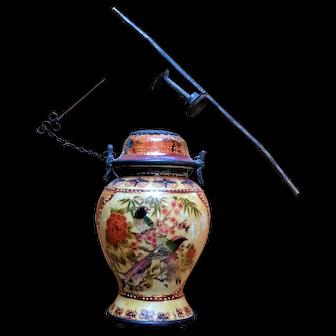 Vintage Vietnamese Porcelain Opium Water Pipe