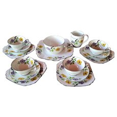 FOLEY Art Deco 1930's Elegant Tea Service for Four