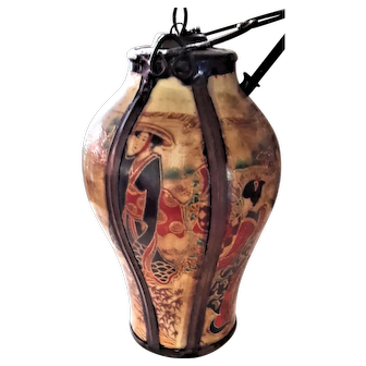 19th Century Oriental Porcelain Opium Water Pipe