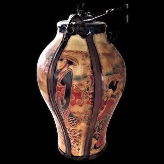 Old Vietnamese Porcelain Opium Smoking Pot Water Pipe 19th Century