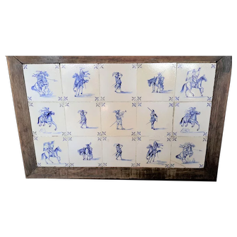 18th Century Framed Dutch Delft Tiles