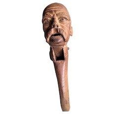 1870's Figural Wooden Nutcracker, Otto von Bismarck