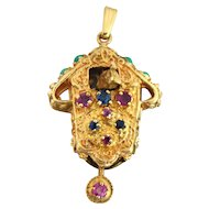 Heavy 14K Movable Cuckoo Clock Charm / Pendant 8 Grams