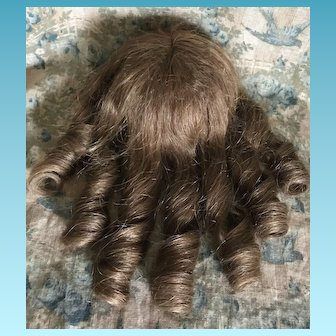 """Human Hair Doll Wig 100% Cheveux Naturels Made in France 11"""""""