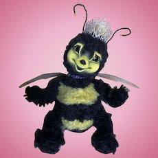 "Sweet  ""HONEY""  OOAK Baby Bumble Bee Mohair Doll & Bear Friend"