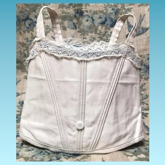 Antique Jumeau Sateen Corset Size 9/10 Doll
