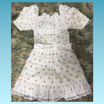 Original Antique Jumeau Dress LARGE Doll
