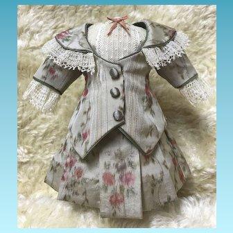 Small Artist Made Silk Antique Doll Dress