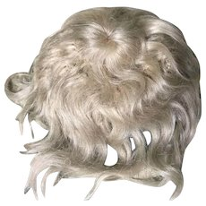 Antique Blond Mohair Wig w/ Bangs Small Doll TLC