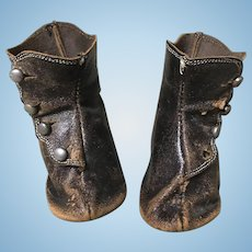 Nice Antique Leather Boots for Large Doll
