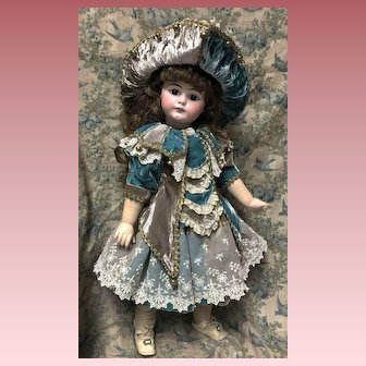 """Polichinelle or Party Dress for a 22""""-23"""" Antique Jumeau Bru Steiner Doll"""
