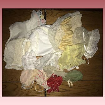 LOT 15  Sweet Bonnets for Antique and Vintage Dolls