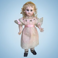 Beautiful Antique Doll Dress and Bonnet Ribbonwork Flowers Lace
