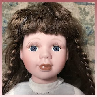 Sweet Porcelain Cloth Doll 16""