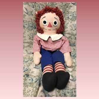 "Vintage 18"" Raggedy Andy Doll Knickerbocker"