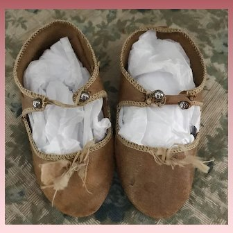 Nice Alart Antique Shoes for Jumeau Bru Steiner Doll Size 12