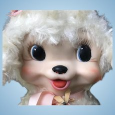 "RARE Rushton Rubber Face Lamb 9"" So ADORABLE"